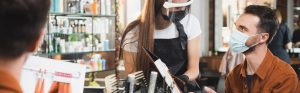 Hairdressers and barbers need surgical masks - Type IIR Mask